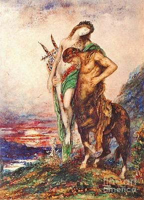 Centaur Photograph - Dead Poet 1890 by Padre Art