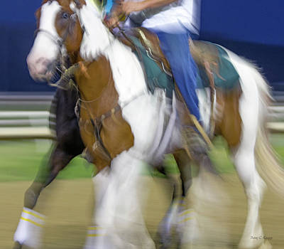 Horse Racing Photograph - Dead Reckoning by Betsy Knapp