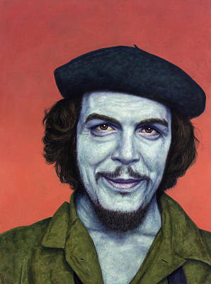 Painting - Dead Red - Che by James W Johnson