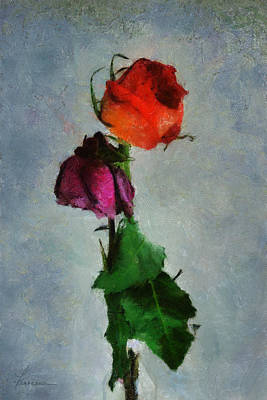 Dead Roses Art Print by Francesa Miller
