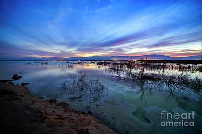Dead Sea At Dawn  Art Print