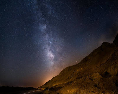 High Iso Photograph - Dead Sea At Night by Stefano Rocca
