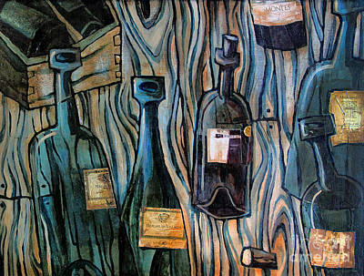 Wine Bottle Painting - Dead Soldiers by Sean Hagan
