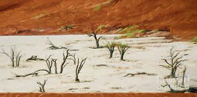 Photograph - Dead Vlei Namibia by Liz Leyden