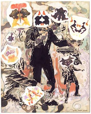 Rorschach Drawing - Deadeye Dick by Karl Frey
