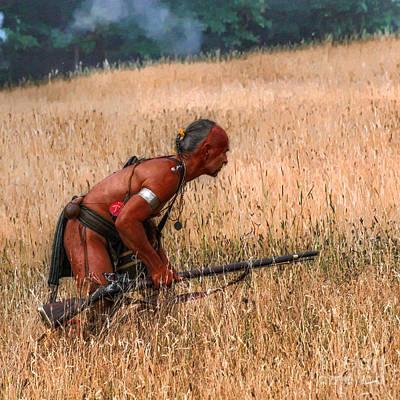 Deadly Skill Indian Hunter Art Print