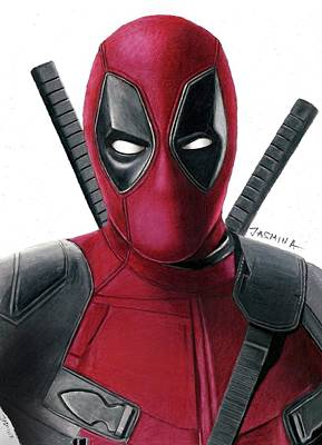 Deadpool Drawing - Deadpool Drawing by Jasmina Susak