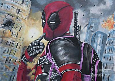Xmen Painting - Deadpool by Jamie Bishop