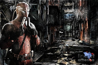 Reynolds Digital Art - Deadpool Merc-ing Aint Easy by The DigArtisT