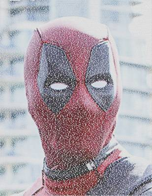Digital Art - Deadpool Quotes Mosaic by Paul Van Scott