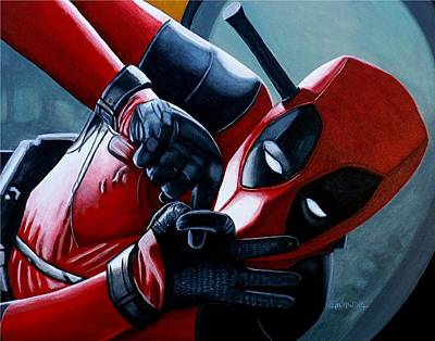 Painting - Deadpool Really Loves You by Al  Molina