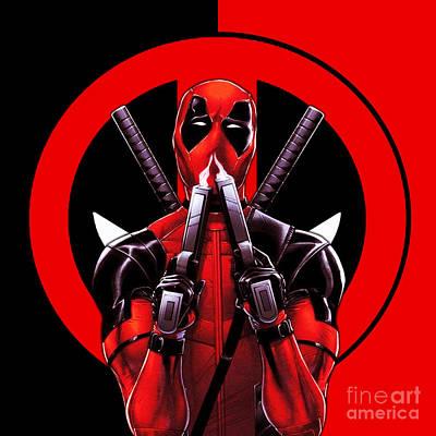 Deadpool Digital Art - Deadpool by Vika Chan