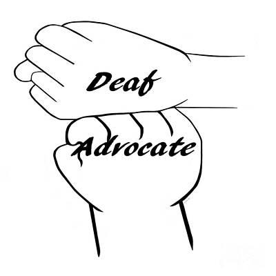 Deaf Advocate Art Print