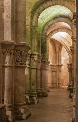 Photograph - Deambulatory North Saint-eutropius Romanesque Basilica Saintes Charente-maritime by Jebulon