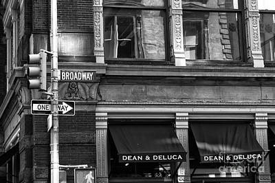 Photograph - Dean And Deluca Mono by John Rizzuto