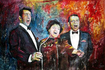 Judy Garland Painting - Dean, Judy And Frank by Marcelo Neira