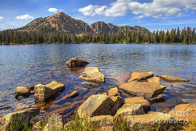 Photograph - Dean Lake And Notch Mountain by Spencer Baugh