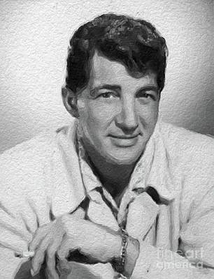 Musician Royalty-Free and Rights-Managed Images - Dean Martin, actor, crooner by Mary Bassett