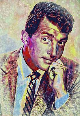 Painting - Dean Martin - Actor Singer by Ian Gledhill