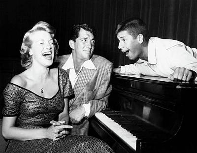 Dean Martin And Jerry Lewis With Rosemary Clooney 1950s Print by N B C