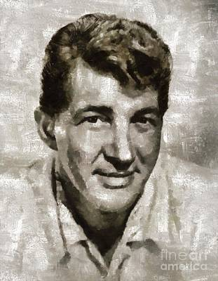 Music Royalty-Free and Rights-Managed Images - Dean Martin by Mary Bassett by Mary Bassett