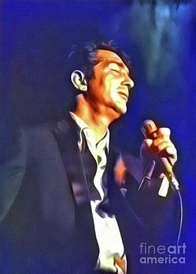Dean Martin, Hollywood Legend. Digital Art By Mb Art Print