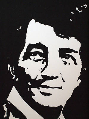 Dean Martin Silhouttes Drawing - Dean Martin Loving Life by Robert Margetts