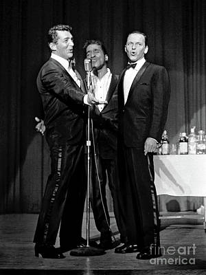 Photograph - Dean Martin, Sammy Davis Jr. And Frank Sinatra. by Doc Braham