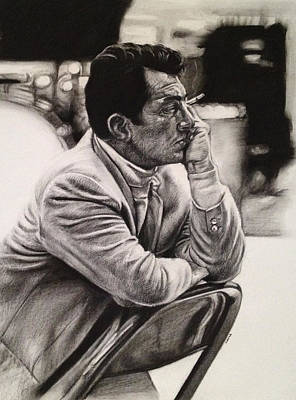 Frank Sinatra Drawing - Dean Martin by Steve Hunter