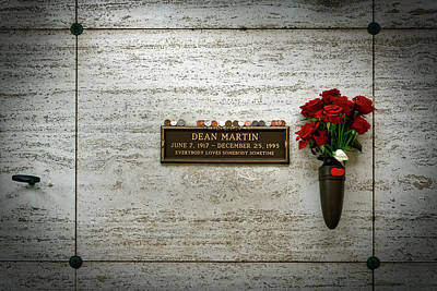 Photograph - Dean Martin's Final Resting Place by Mountain Dreams