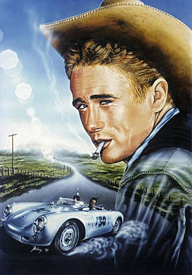 Painting - Dean Story by Uwe Jarling