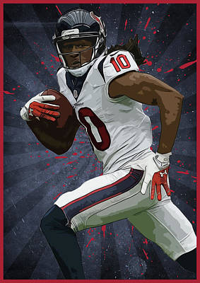 Deandre Hopkins Art Print by Semih Yurdabak