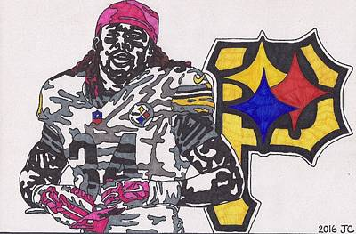 Drawing - Deangelo Williams  by Jeremiah Colley