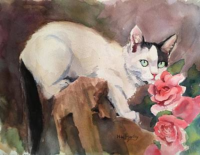 Painting - Deano In The Roses by Mimi Boothby