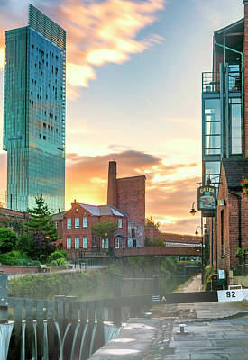 Photograph - Deansgate Locks Overshadowed by Neil Alexander