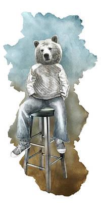 Digital Art - Dear Bear by Claude Peyrouse