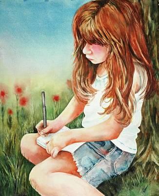 Painting - Dear Diary by Diane Fujimoto