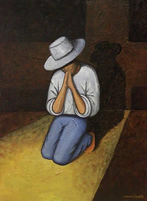 Painting - Dear God 4 by Lance Headlee