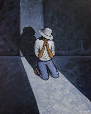 Painting - Dear God 6 by Lance Headlee