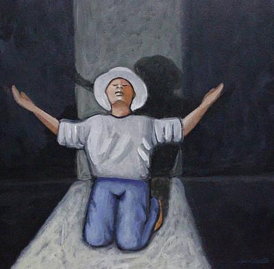 Painting - Dear God 7 by Lance Headlee