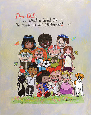 Painting - Dear God, What A Great Idea by Quwatha Valentine