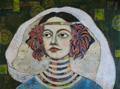 Portrait Mixed Media Painting - Dear Isis by Jane Spakowsky