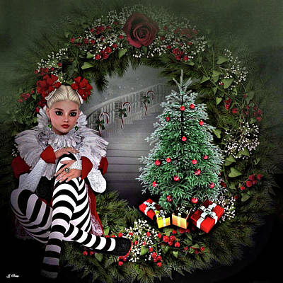 Little Girls Mixed Media - Dear Santa 005 by G Berry