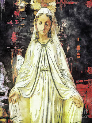 Mother Mary Digital Art - Dearest Mother by Davy Cheng