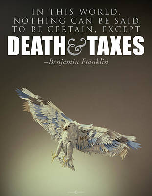 Painting - Death And Taxes by Tim Nyberg