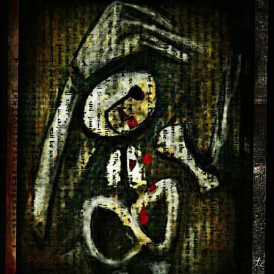 Digital Art - Death By A Thousand Tears by Delight Worthyn