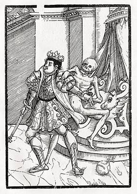 Death Comes For The King From Der Art Print