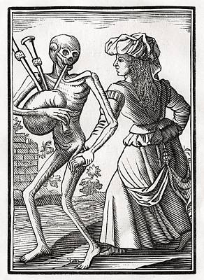Death Comes For The Unbelieving Woman Art Print