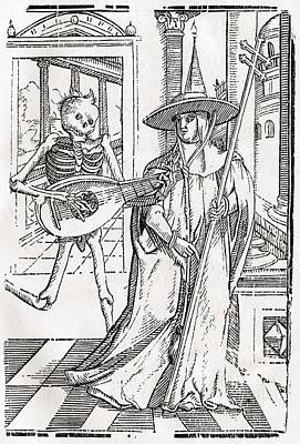 Death Comes To The Cardinal From Der Art Print