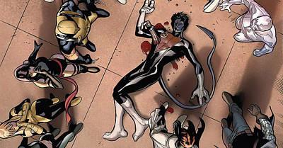 Death Comics Xmen Marvel Comics Nightcrawler Second Coming Art Print